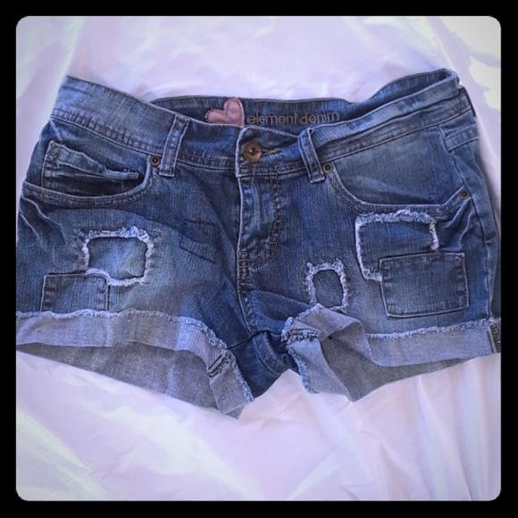 Element Pants - Cuffed denim shorts